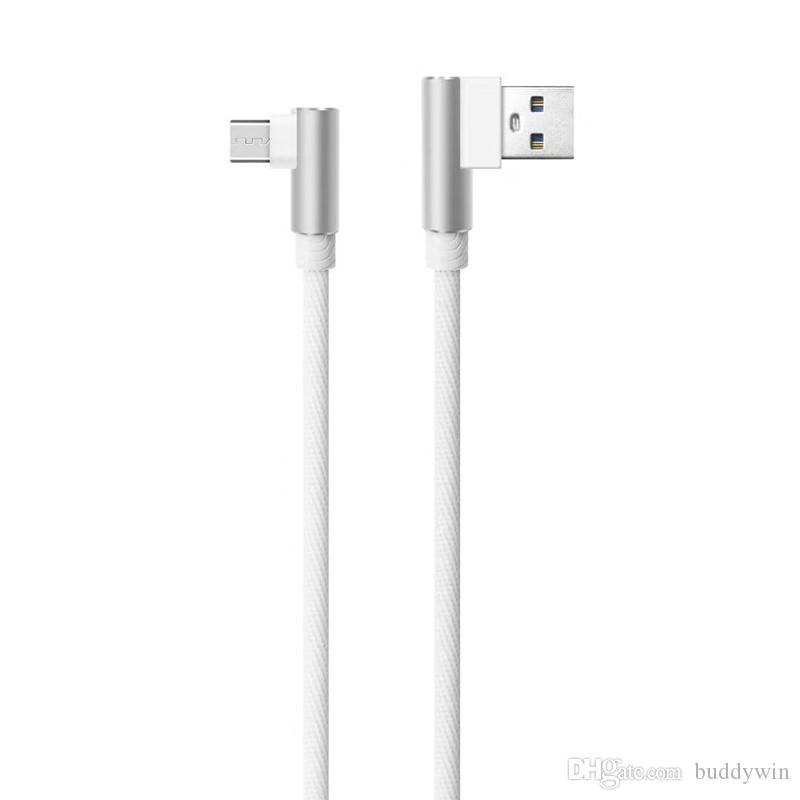 90도 직각 유형 C 마이크로 USB 케이블 빠른 충전 충전기 코드 와이어 1M / 3FT 유니버설 Android 유형 C 케이블