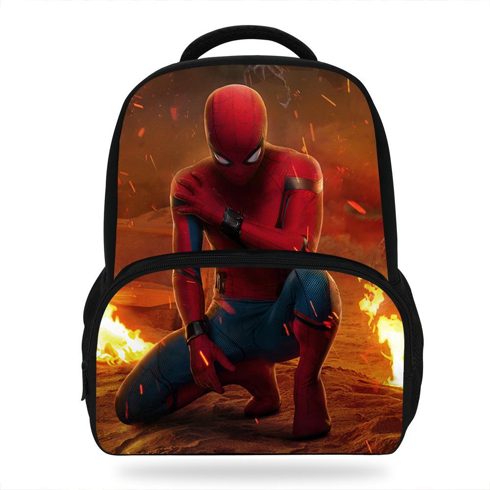 14inch Super Hero Print Backpack For Kids Boys Girls Spiderman Bag For School  Children Bookbags For Pupil Travel Backpack Styles Backpacks Usa From ... 89107844fb75c
