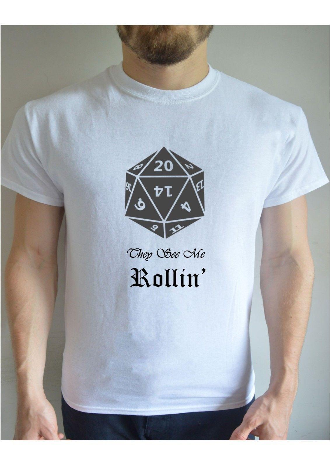 7ec094db2 Printed T Shirt They See Me Rollin' D&D Dungeons Dragons Retro Cool Present  Cool Tee Shirts Designs Web T Shirts From Linnan06, $14.67| DHgate.Com