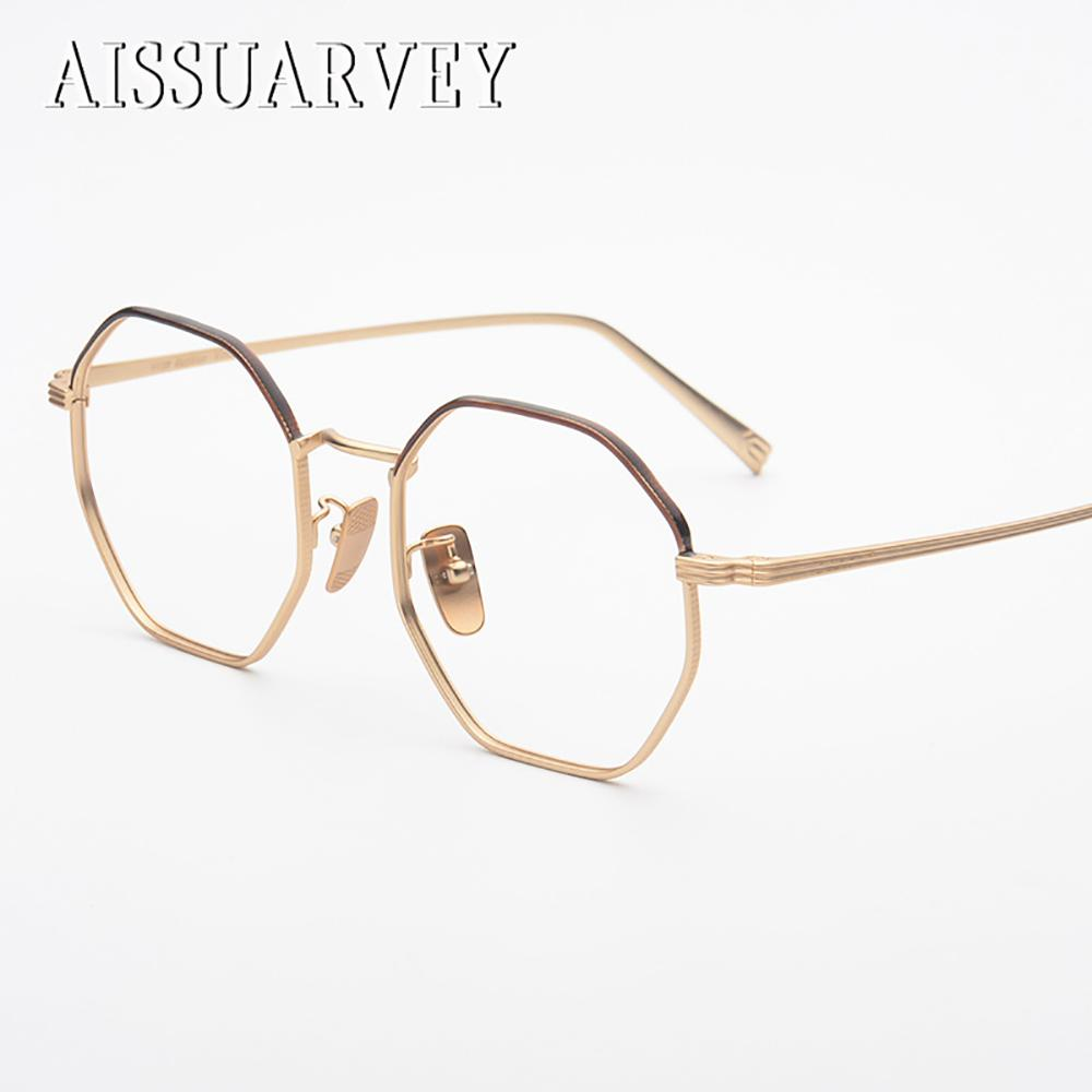 8d3f2451ccb3 2019 Pure Titanium Retro Hexagon Vintage Optical Eyeglasses Frames Brand  Designer Top Quality Eyewear Fashion Oversize Spectacles From Maocai, ...