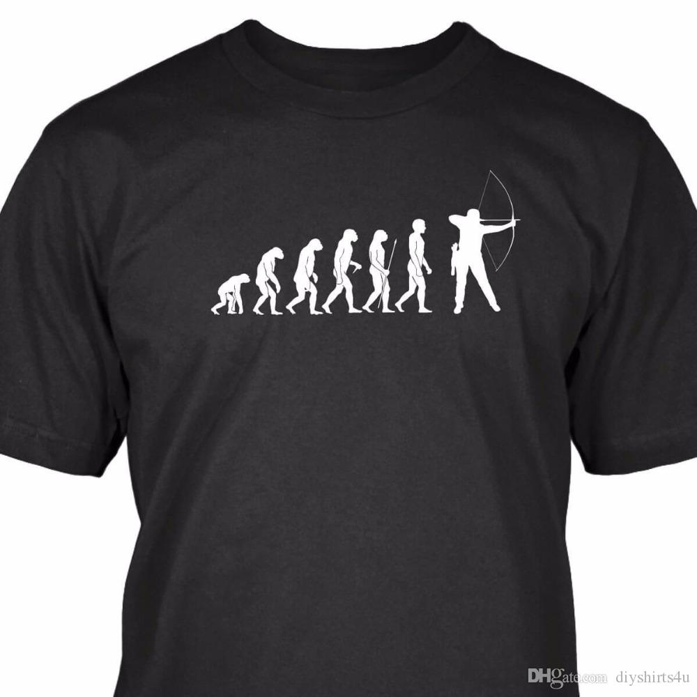 4c20bdcfe Mens Graphic Tees Crew Neck Short Sleeve Top Bogenschutze Evolution T Shirt  T Shirt For Men Design T Shirts Online Order T Shirts From Diyshirts4u, ...