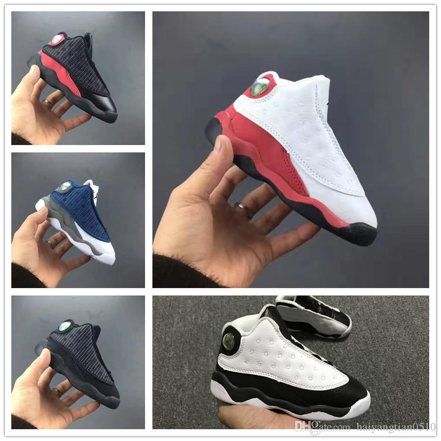 23155fff16a9b Acheter Nike Air Jordan Aj13 Vente En Ligne Pas Cher Nouveau 13 Enfants  Chaussures De Basket Pour Les Garçons Filles Espadrilles Enfants Babys 13s  Chaussure ...