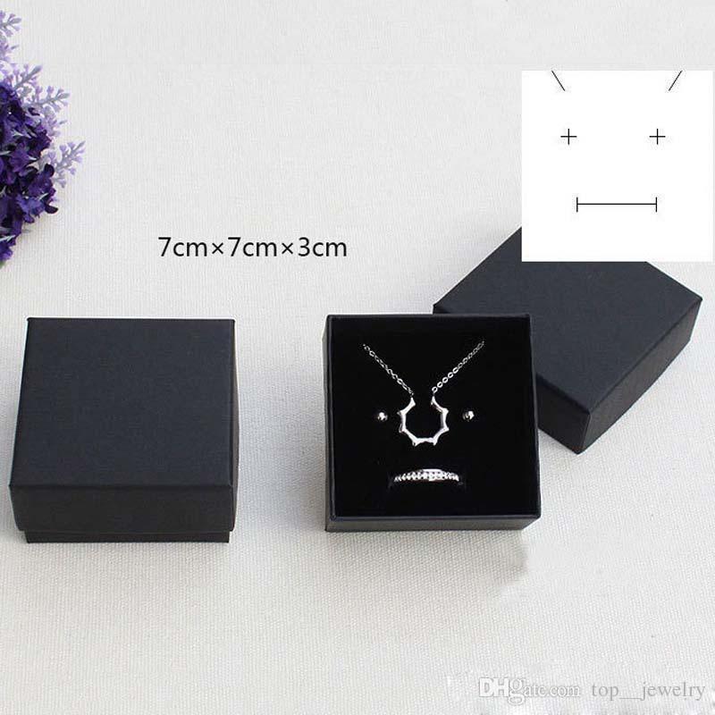 Alta Archives Black Kraft Jewelry Packing Bracelet Necklace Ring Ear Nail Box Navidad Regalo de Año Nuevo Personaliza 6 Tamaño