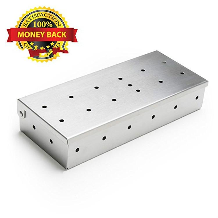 Amazon specifically for outdoor barbecue supplies Stainless steel smoke box BBQ use stainless steel cigarette case
