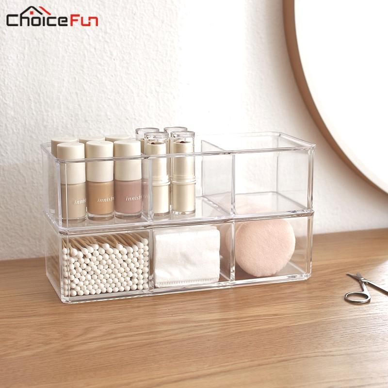 2018 Choicefun Diy Transpa Clear Plastic Desk Bathroom Acrylic Cotton Swab Pad Nail Polish Cosmetic Makeup Storage Organizer Box From Diaolan
