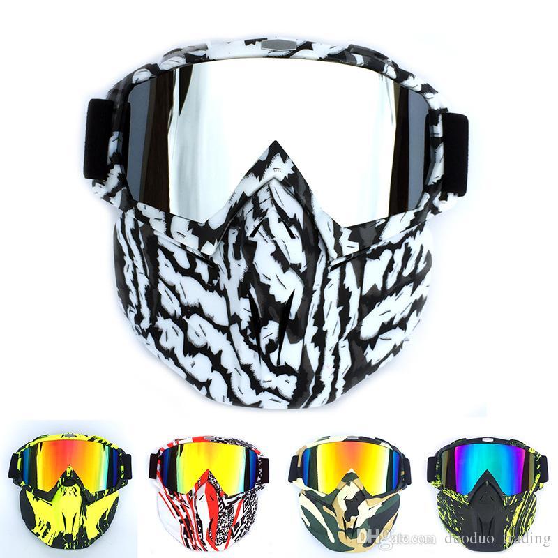 0c68cda36fdab 2019 Men Women Ski Snowboard Snowmobile Goggles Mask Snow Winter Skiing Ski  Glasses Motocross Sunglasses Personality Dazzling Color Hot Products From  ...