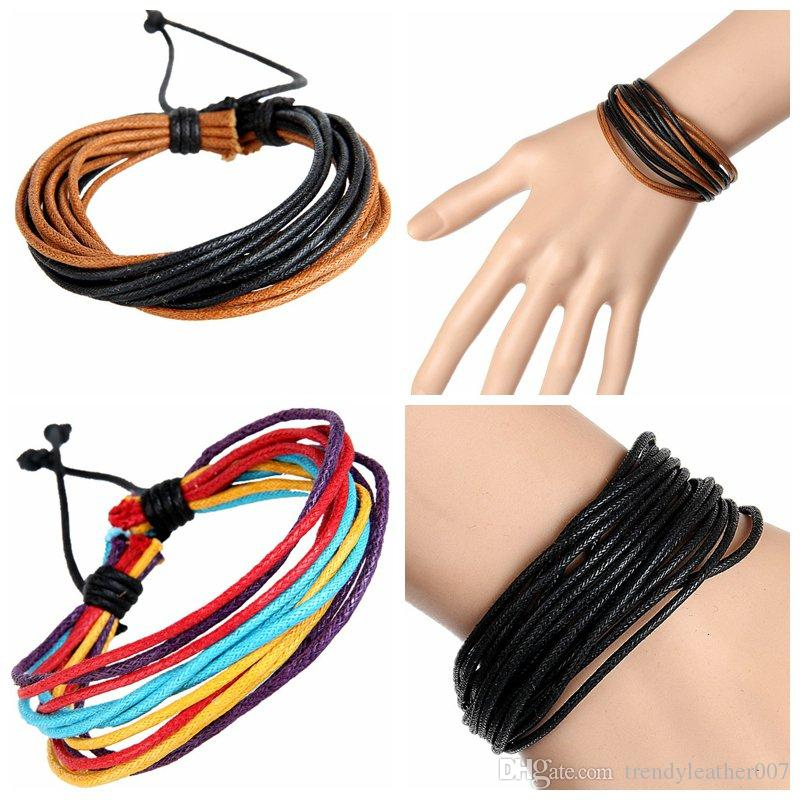 0e753e7af 2019 New Fashion Women'S Leather Hemp Braided Bracelets Stylish Personality  Handmade Leather Wrap Bracelet Jewelry Promotion Gifts Factory Price From  ...