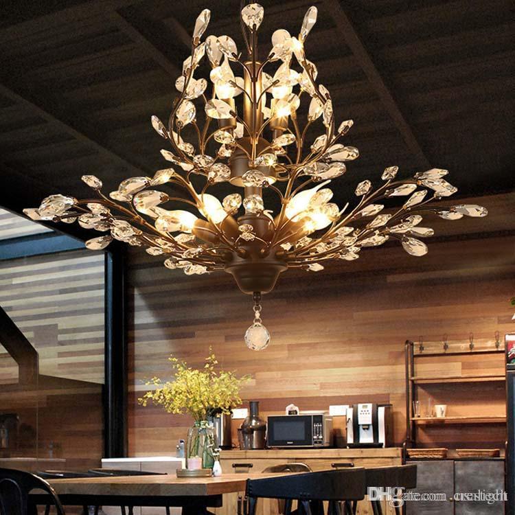K9 Crystal Chandelier Tree Branch Pendant Lamps Vintage Crystal