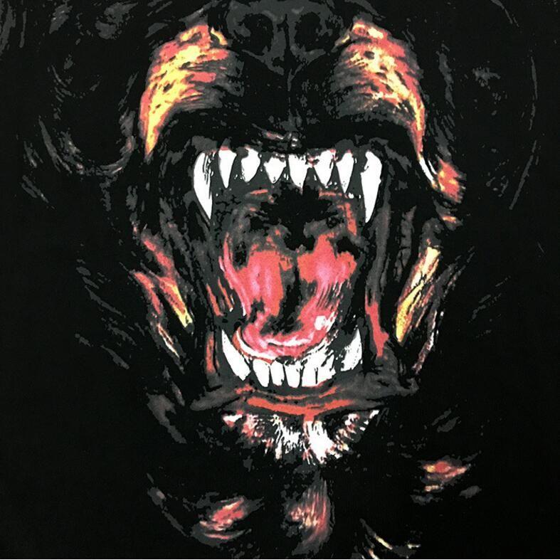 Marque Designer-Fashion Rottweiler chien imprimer Haute qualité O-cou Black tee-shirts pour hommes femmes coton livraison gratuite