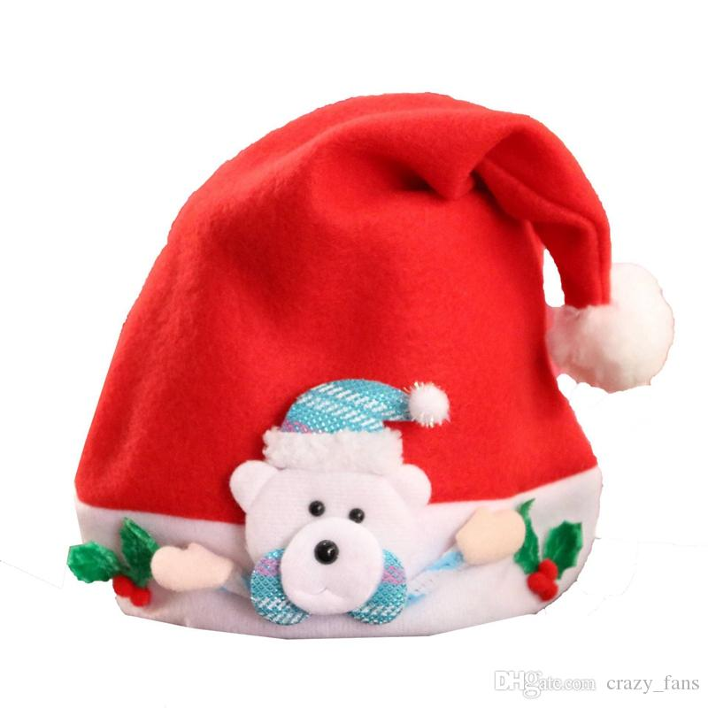 11483c15eb885 Red Santa Claus Hat Ultra Soft Reindeer Ornaments Christmas Hats For  Christmas Decoration Party Hats For Kid Adult Xmas Gifts Western Party  Decorations ...
