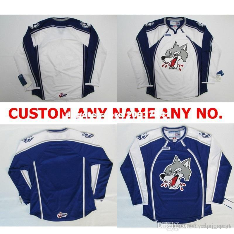 custom Customize OHL Sudbury Wolves Jersey Mens Womens Kids Personalized 100% Stitched Any Name Ice Hockey Jerseys Goalit Cut Jersey
