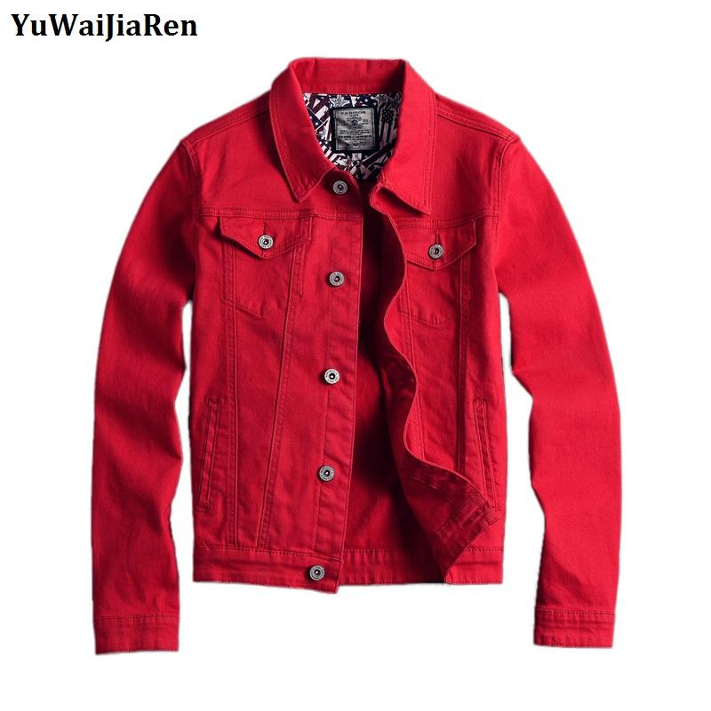 Yuwaijiaren Men S Denim Jackets Coat Spring Autumn Fashion Casual