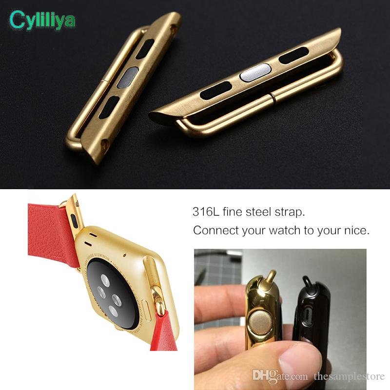 In Stock Stainless Steel Adapter for Apple Watch 38mm 42mm Band Connector, Adaptor, Apple Watch Buckle Ship Out Wihtin 1 Day