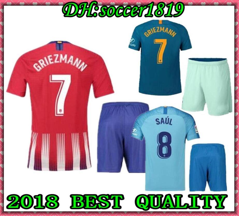 2019 18 19 GRIEZMANN Madrid Home Soccer Jersey Kit 2018 19 KOKE . 8269313e5