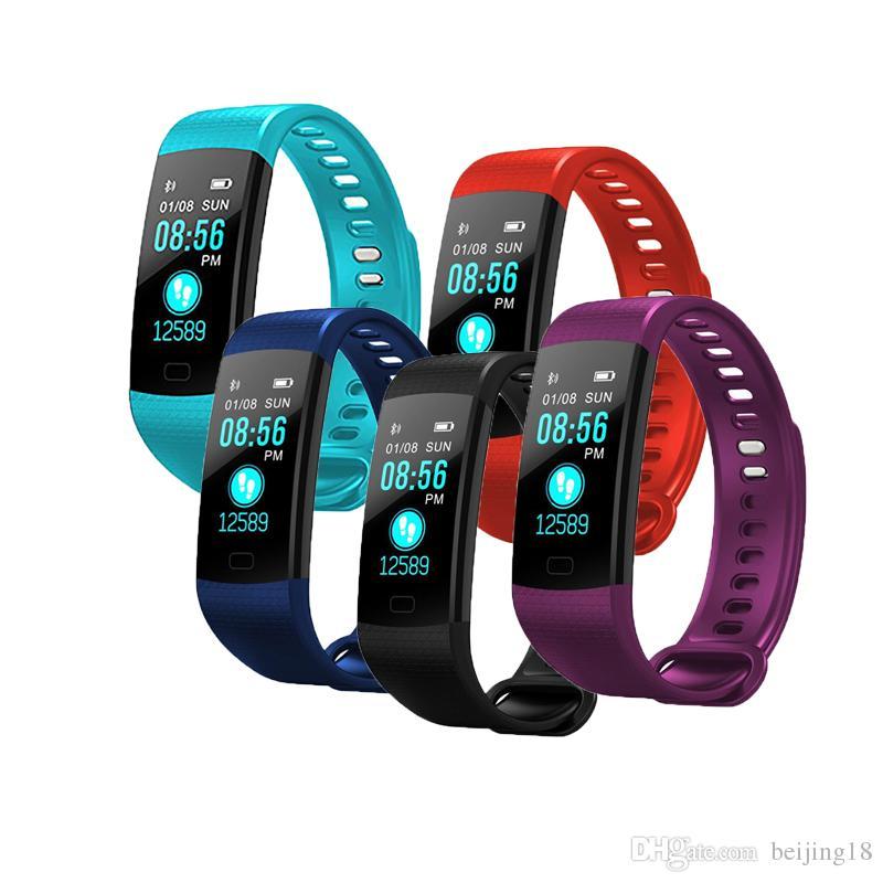 2018 neue Y5 Smart Armband Armband Fitness Tracker Bildschirm Herzfrequenz Schlaf Schrittzähler Sport Waterproof Activity Tracker für iPhone Samsung