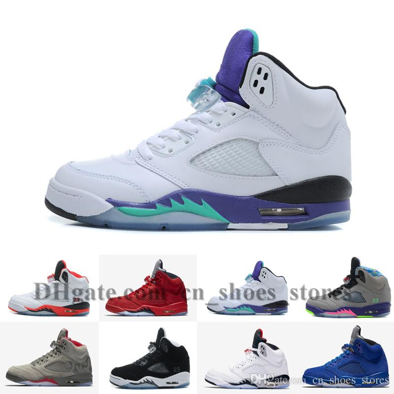 new arrivals 4e3d0 30cf0 2018 Cheap Men 5 V Raging Bull Red Suede Tongue Reflect Basketball Shoes 5s  Bull Blue Sneakers Shoes US8 13 With Shoes Box Carmelo Anthony Shoes  Basketball ...