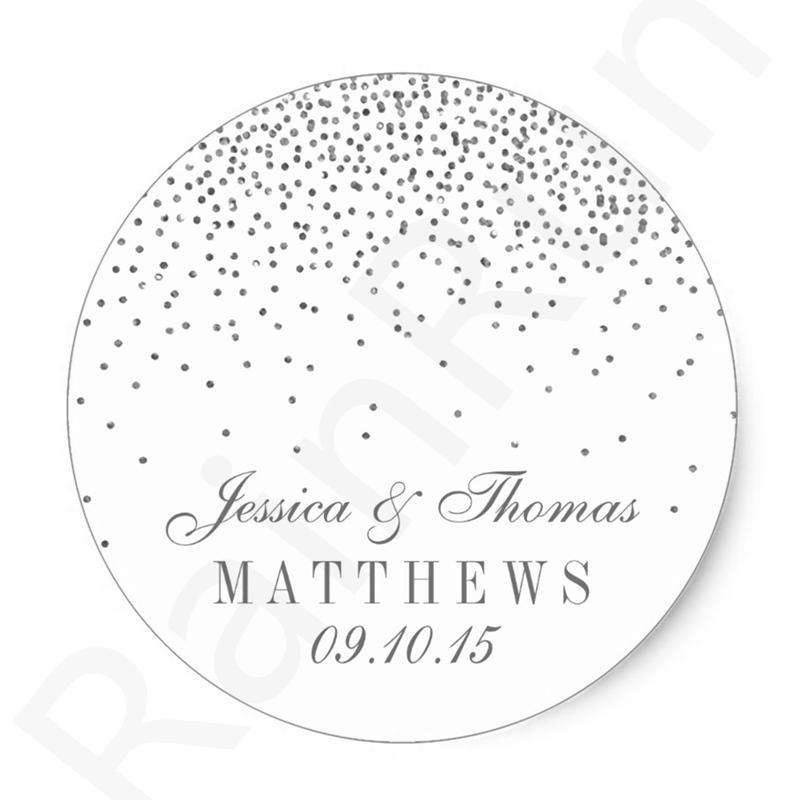 Personalisierte Hochzeit Produkt Label Aufkleber Runde Verpackung Aufkleber Set Custom Logo Blatt Etiketten Für Handgefertigte Artikel