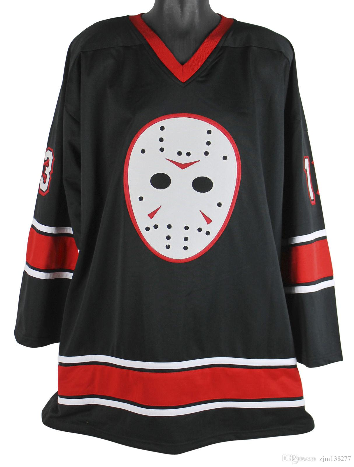 07d7cba7c46 2019 Friday The 13th Jason Voorhees Hockey Jersey Embroidery Stitched  Customize Any Number And Name Jerseys. From Zjm138277
