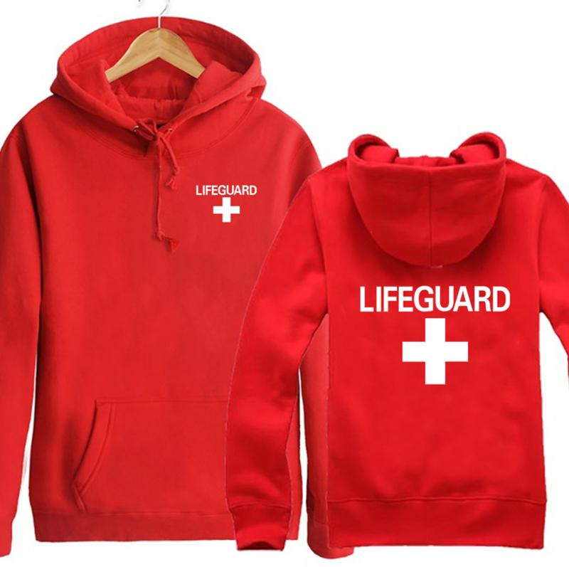Plus Size Lifeguard Hoodies Sweatshirt Pullover Hip Hop Rapper Dj Mc