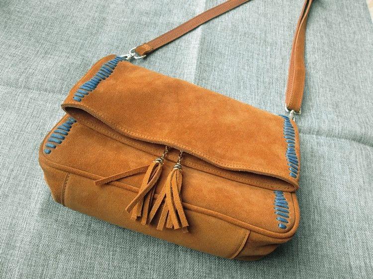 0ca55dd33f21 2018 New Women S Genuine Leather Bags Vintage Suede Tassel Small Hippie  Nubuck Leather Crossbody Bag Sac A Main Femme De Cuero Cute Purses Rosetti  Handbags ...