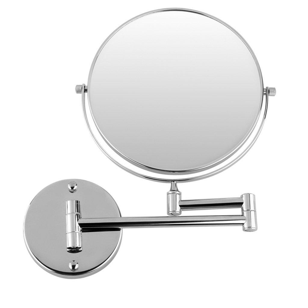 Yost Chrome Round Extending 8 Inches Cosmetic Wall Mounted Make Up