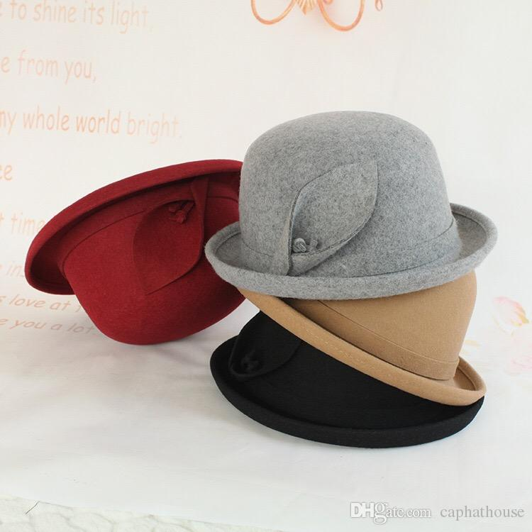 17567476108e5 2019 Wholesale Retail 2018 Winter New Fashion Woman Girl Wool Top Hat Warm Hat  From Caphathouse