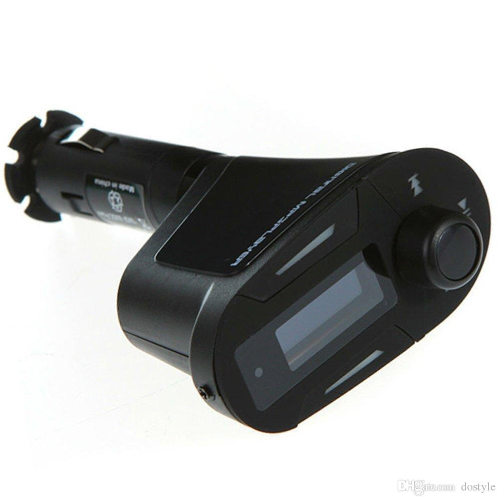 HOT Sales 3.5mm Audio Blue LCD Car Kit Car MP3 music Player Remote Wireless FM Transmitter Modulator Auto Radio+USB SD MMC