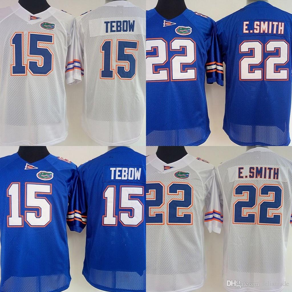 5d24f4d12 2019 Womens Florida Gators College Jerseys  15 Tim Tebow 22 E.Smith College  Football Jerseys 2018 New Style Stitched Blue White From Felixtrade