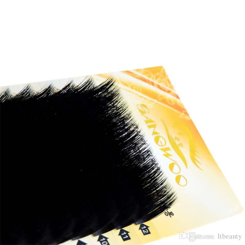 SANGWOO Makeup Individual Cluster False Eye Lashes Grafting False Eyelashes Eager 14mm any Curl Natural Beauty Make up Tool