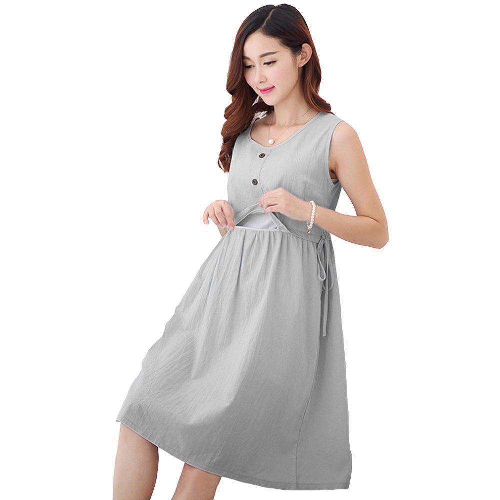 25275f70fa0 2019 Fashion Maternity Dresses Linen Cotton Nursing Dress Breastfeeding  Dress For Nursing Clothes Breast Feeding Clothing For Feeding From  Rainbowny