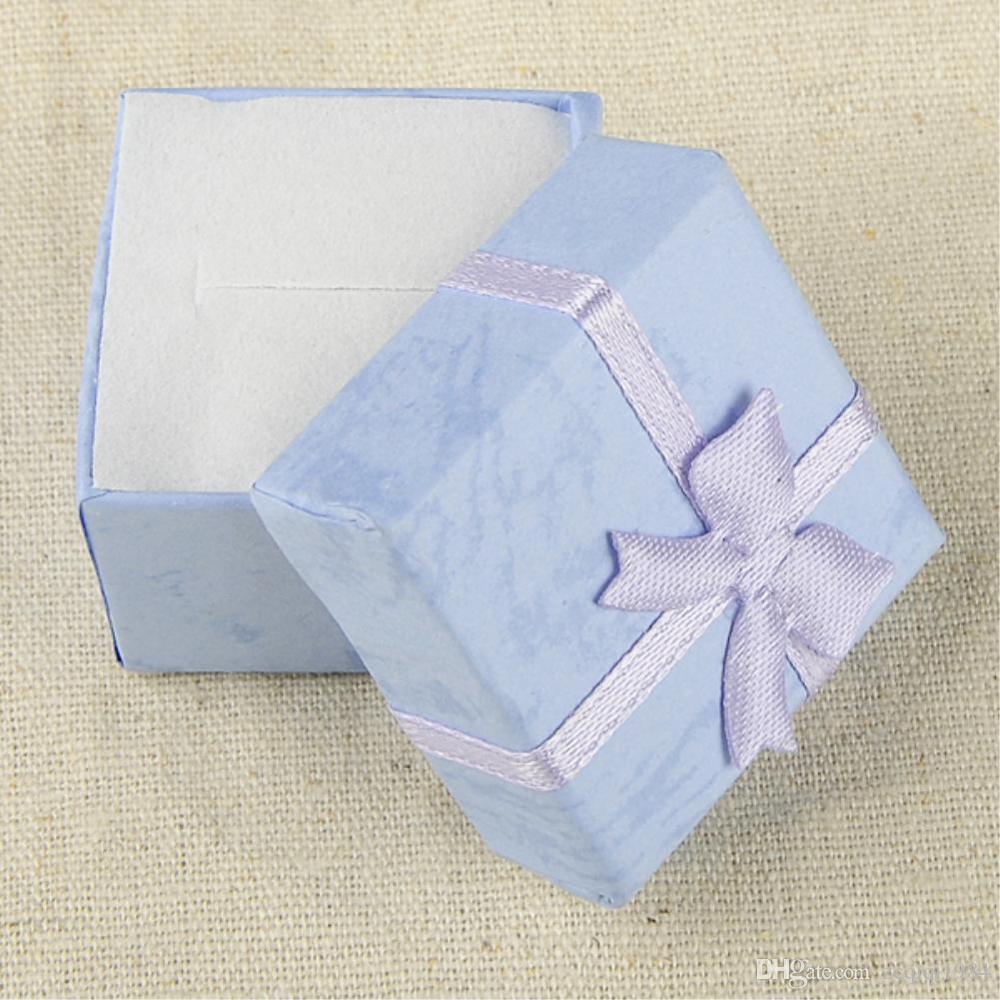 مزيج الألوان علب الهدايا سوار المجوهرات الدائري القرط هدية علبة كرتون Bowknot حالة صندوق مجوهرات حزمة ماكياج منظم