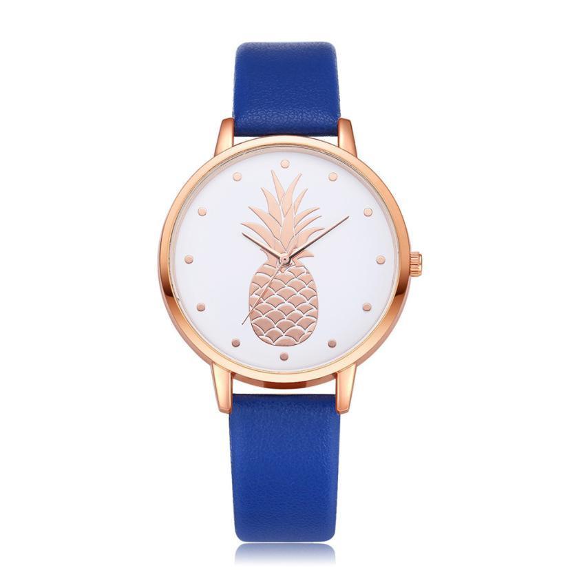 Compre Reloj De Cuarzo Para Las Mujeres Elegancia De Piña De Oro Imprimir  Vestido De Las Señoras Relojes De Lujo Marca De Pulsera De Las Mujeres  Relojes ... 75c9d6dd72de