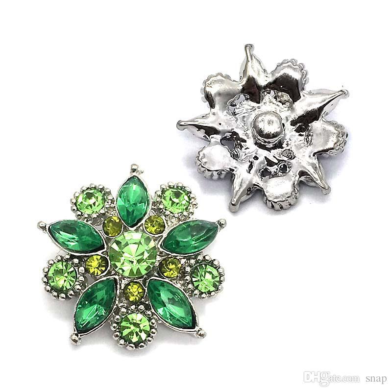 Hohe qualität 026 3D 18mm 25mm strass metall druckknopf für Armband Halskette Schmuck Für Frauen Mode accessorie