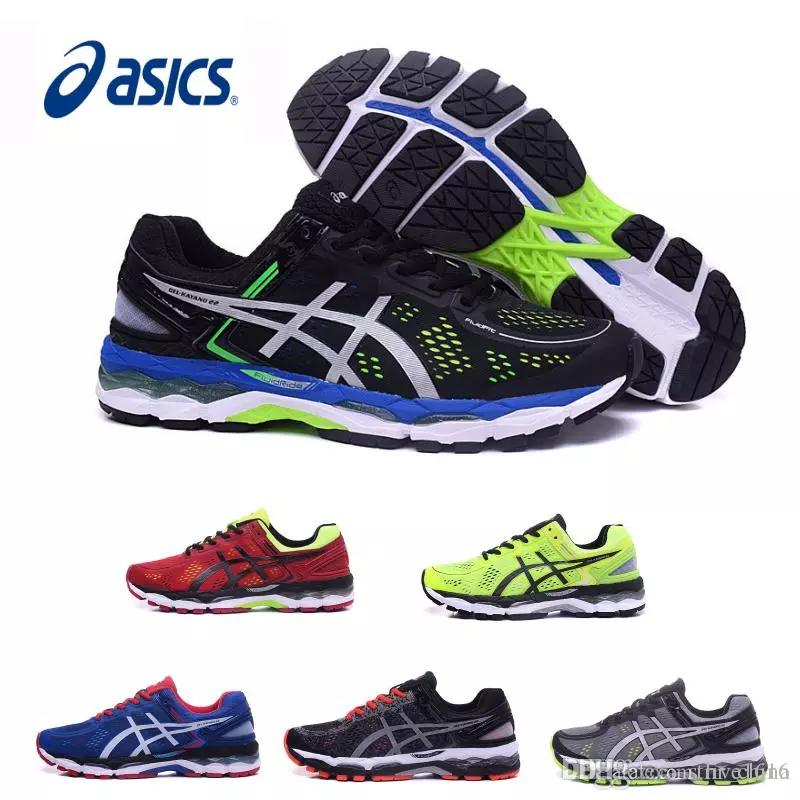 new style 9c518 bca2f 2018 Wholesale New Asics GEL KAYANO 22 For Men Running Shoes Top Quality  Athletics Discount Sneakers Sports Shoes Boots Size 40 45 Best Running Shoes  ...