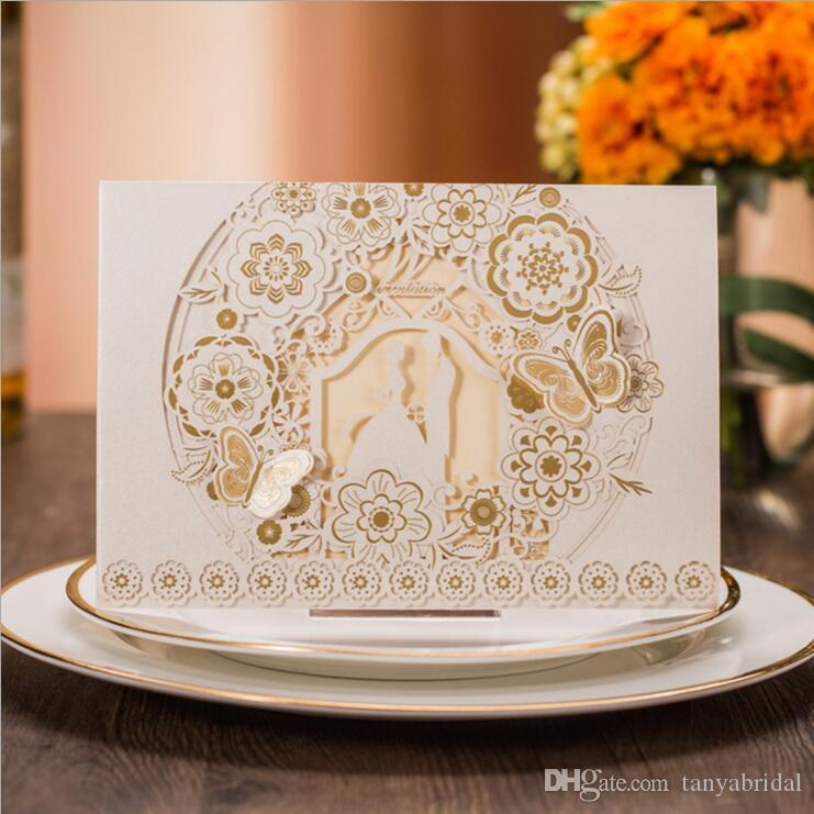 Gold And White Luxury Wedding Invitations Charming