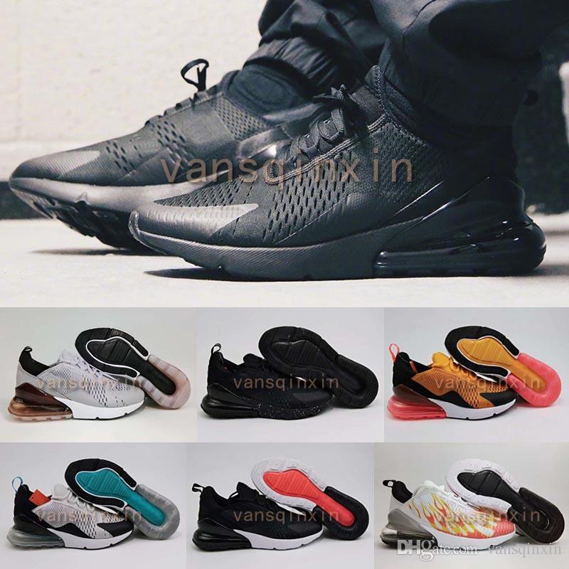Wholesale 270 Mens Flair Triple White Black orange 270 Nano Kpu Trainer Running Shoes Womens Training 27C Sports Sneakers Shoes free shipping professional 9kMkDUNxeN