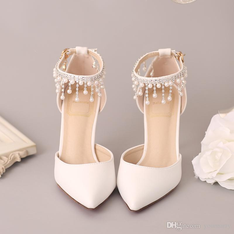 33b38058278b New Arrival Wedding Shoes White Red Bridal Shoes 2018 Elegant Prom Party  Event Wear Size Fabulous Wedding Shoes Flat Bridal Shoes Ivory From  Youmarry