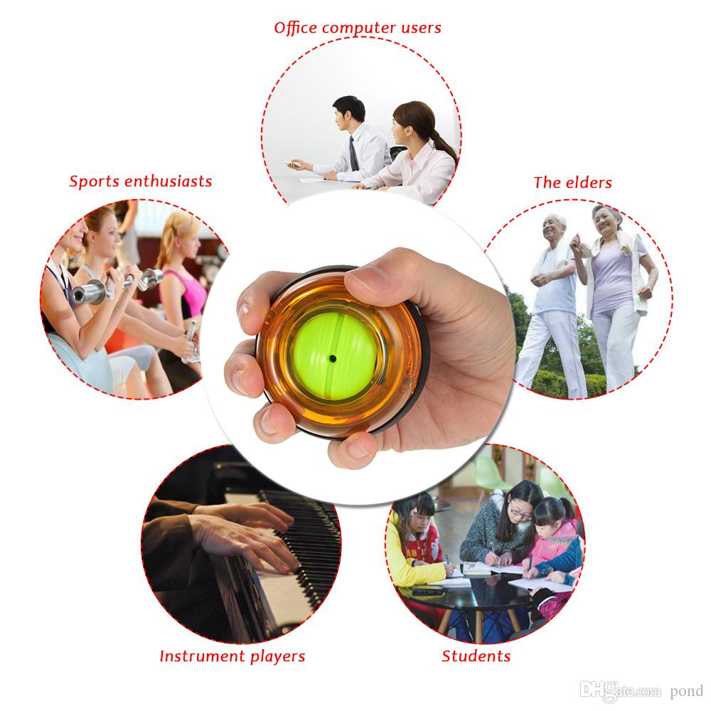 Trainer Relax Gyroscope Ball High Quality Wrist Muscle Power Ball Gyro Arm Exerciser Strengthener LED Fitness Equipments