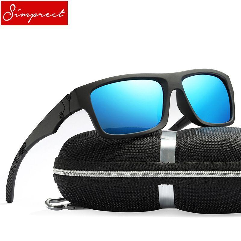 c40f6df5fb5fe7 SIMPRECT Polarized Sunglasses Men 2018 Square HD UV400 Mirror Sport Driving  Sun Glasses High Quality Lunette De Soleil Homme Sunglasses Cheap  Sunglasses ...