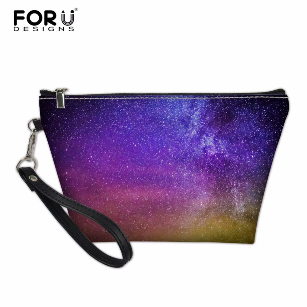 wholesale Women Travel Cosmetic Bag Space Galaxy Zipper Make Up Bag Wash Kit Bags Makeup Organizer Storage Toiletry Case