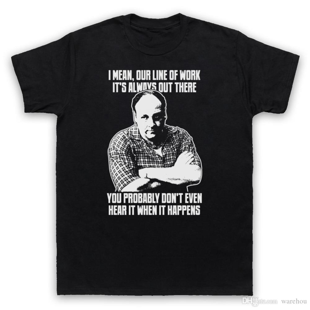 New Printed T Shirts Men Short Sleeve Tony Soprano The Sopranos