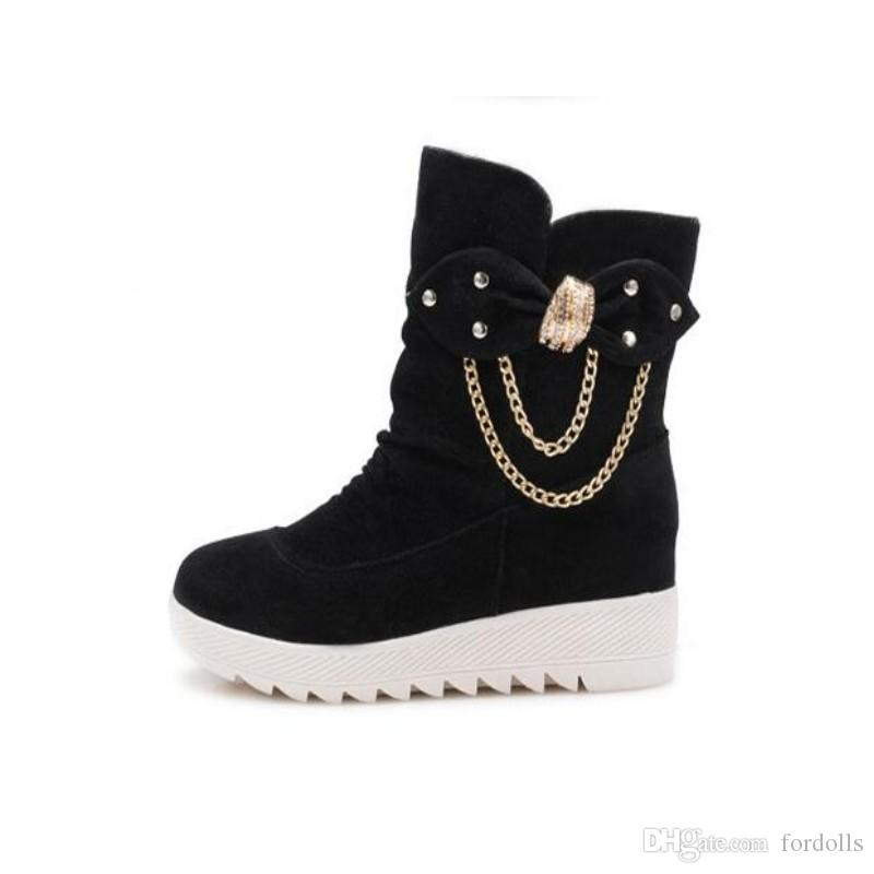 baa666c59c0 Women Winter Shoes Woman Snow Boots Ankle Boots Casual Fashion Flat ...