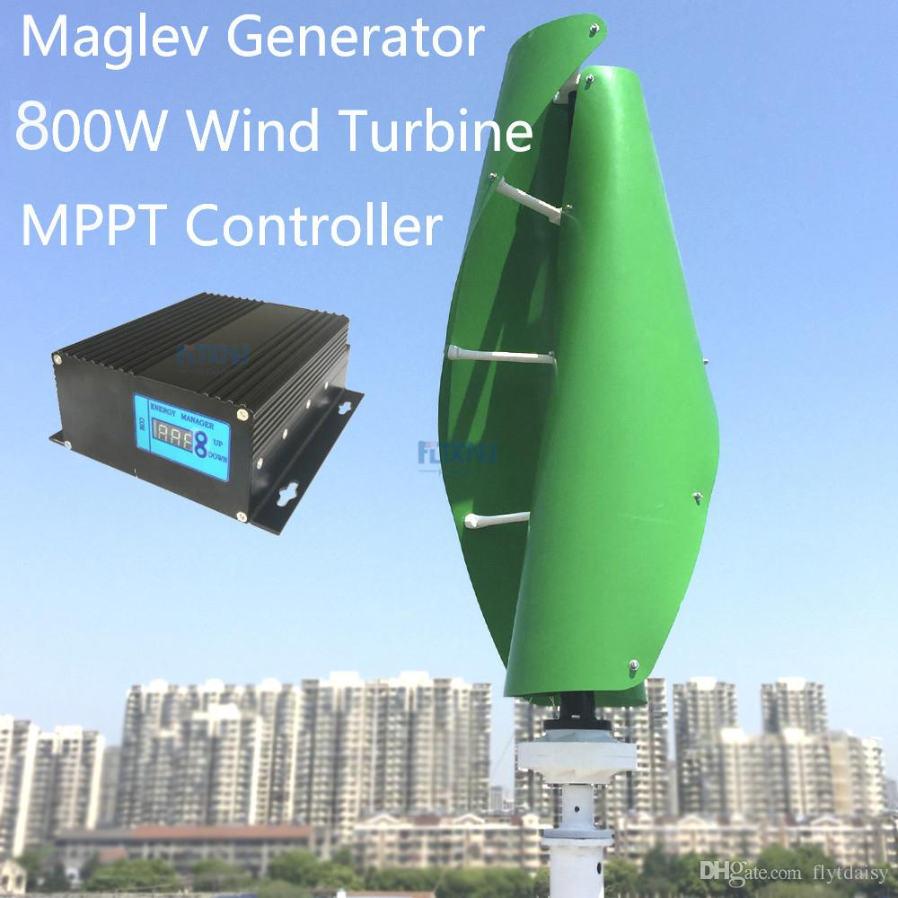 Maglev wind turbine 800w 24v 48v vertical axis wind generator with MPPT  controller for home use