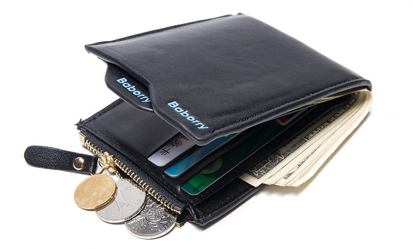 Fashion 2018 Men Wallets Mens Wallet with Coin Bag Zipper Small Money Purses New Design Dollar Slim Purse Money Wallet