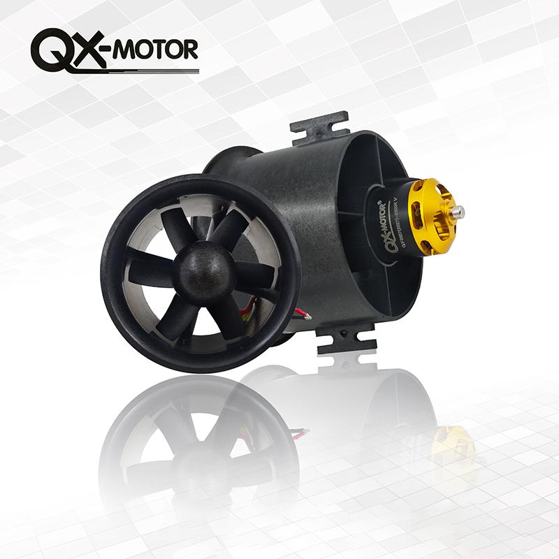 QX-Motor 70mm 6 Blades Ducted Fan EDF With 2827 KV2300 KV3500 KV3800  Brushless Motor For RC Airplanes