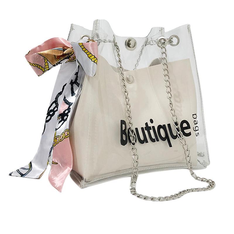 41bbf92877 New Women Summer Beach Bag Clear PVC Transparent Bags Shoulder Waterproof  Small Crossbody Messenger Bags Handbags Totes Womens Handbags Handbags From  ...