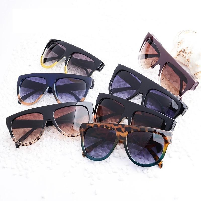Compre Flat Top Oversized Quadrado Óculos De Sol Das Mulheres Gradiente  2019 Estilo Verão Clássico Mulheres Óculos De Sol Feminino Quadrado Grande  Eyewear ... 2ff939adce