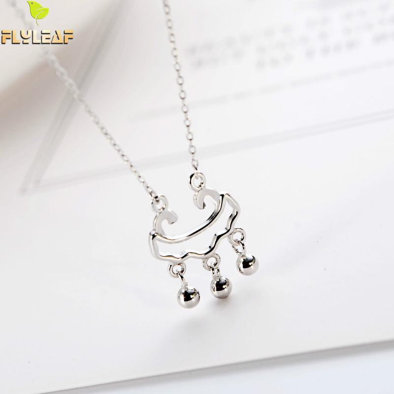 4a460108df965 Wholesale Flyleaf 100% 925 Sterling Silver Longevity Lock Necklaces  Amp   Pendants For Women Chinese Style Fashion Jewellery Silver Necklaces Diamond  ...