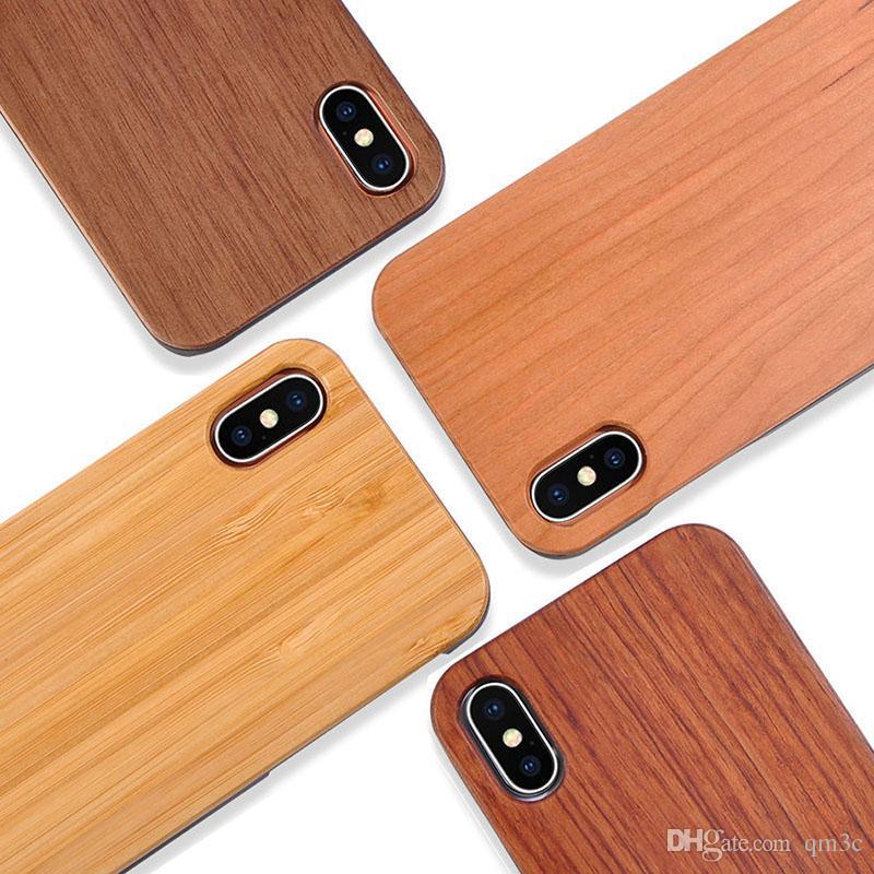 iphone x carcasa madera