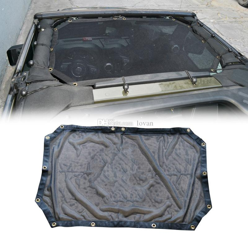 Off Road UV Protection Soft Top Car Roof Mesh Net Sunshade For Jeep Wrangler JK 2/4 Door